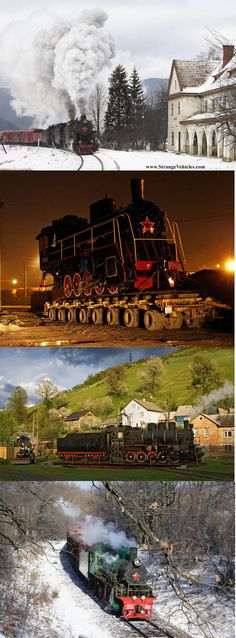 STRANGE OLDE RUSSIAN STEAM LOCOMOTIVES