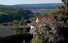 Meine Heimatstadt Merzig, Saarland, Germany. Blick zum Ortsteil Brotdorf.