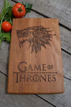 Dinner Is Coming Cutting Board Game of Thrones Kitchen Decor Wooden Cutting Board Cookware Git for Dad  Christmas Present Birthday Gift (26.80 USD) by Woodencook