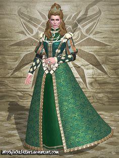 The Witcher 3 - Anna Henrietta (Green Dress) by MoogleOutFitters.deviantart.com on @DeviantArt