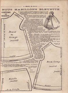 PAR AMOUR DES POUPEES :: 1917 -03- Bleuette costume de nounou
