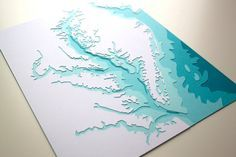 Chesapeake Bay original 8 x 10 papercut art by Crafterall on Etsy