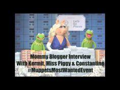 Mommy Blogger Interview With Kermit, Miss Piggy and Constantine #MuppetsMostWantedEvent