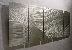 FLOW / Abstract Painting a Metal Wall Art Sculpture by Nider the Internationally Acclaimed Artist of Contemporary Decor