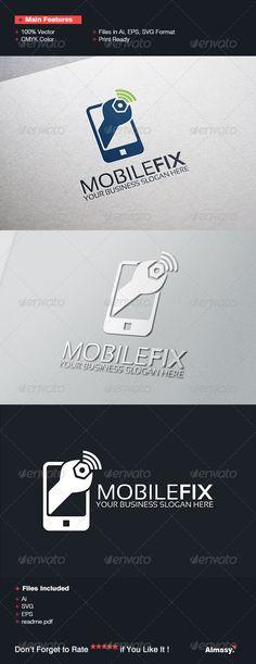 Mobile Fix Logo Template