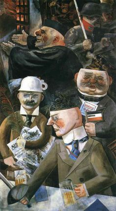 Vintage The Pillars of Society by George Grosz