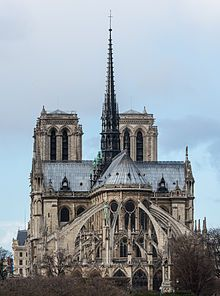 The cathedral of Notre Dame de Paris is a historic Catholic cathedral in Paris. This cathedral is known for its examples of French Gothic architecture and is one of the most well-known churches in the world. Notre Dame has many beautiful, natural sculptures, as well as gorgeous stained glass windows that capture earlier Romanesque architecture.