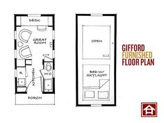 The Gifford. A little different arrangement. You enter through the kitchen and bath instead of through the living area.  I like that.