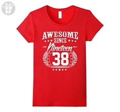 Womens 1938 T-Shirt for Men/Women. 79 Year Old Birthday Gifts Small Red - Birthday shirts (*Amazon Partner-Link)