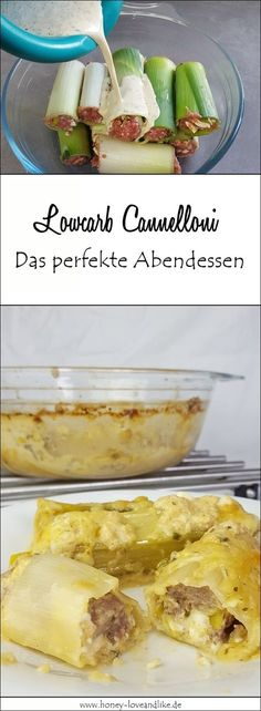 So machst du schnell und einfach ganz leckere Lowcarb Cannelloni. Das perfekte A… So you make fast and easy very tasty low carb cannelloni. The perfect dinner! Low Carb Keto, Low Carb Recipes, Healthy Recipes, Salad Recipes, Menu Dieta Paleo, Low Carb Noodles, Carne Picada, Tasty, Yummy Food