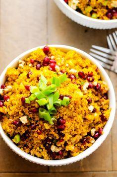 Tumeric Quinoa with Pomagranites and Walnuts curcumin turmeric powder