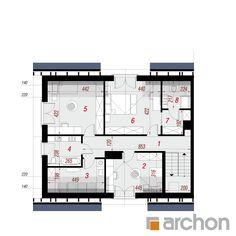 projekt Dom w srebrzykach 3 (B) rzut poddasza