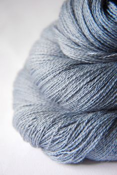 Blue Platinum - Baby Alpaca / Silk yarn lace weight. €19,50, via Etsy.