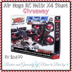 Air Hogs Helix X4 2.4GHz Stunt Quad Copter Giveaway - See more at: http://amedicsworld.com/2013/12/air-hogs-helix-x4-2-4ghz-stunt-quad-copter-giveaway.html/comment-page-3#comment-87680