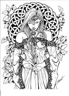 wiccan coloring pages | Ingevuld onder Kleurplaten / Coloring pages | Een reactie plaatsen