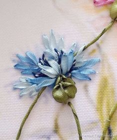Wonderful Ribbon Embroidery Flowers by Hand Ideas. Enchanting Ribbon Embroidery Flowers by Hand Ideas. Embroidery Designs, Ribbon Embroidery Tutorial, Embroidery Patterns Free, Hand Embroidery Stitches, Silk Ribbon Embroidery, Embroidery For Beginners, Embroidery Techniques, Embroidery Kits, Machine Embroidery