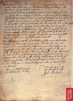 Letter from Anne Boleyn to King Henry VIII, during her Imprisonment in the Tower of London. The authenticity of this document is hotly debated amongst historians, but if it is authentic, that's pretty cool! Tudor History, European History, British History, World History, Family History, Asian History, Ancient History, Ancient Aliens, American History