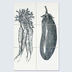 Tiletableau collection Carrot & Aubergine by 1000graden