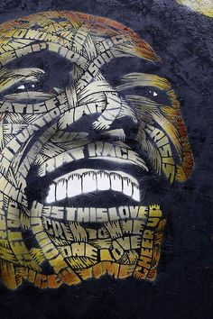 otto schade by Richgoeswalkabout#Street Art  My ideas about this piece: use as inspiration for a theme on beauty  imperfection - writings on face (words such as: ugly, acne, dark, fat, etc.)