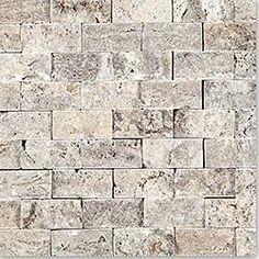 BuildDirect®: Kesir Travertine Mosaic - Stacked Stone Brick Series