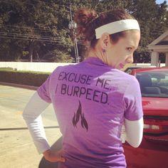 Crossfit burpeed shirt