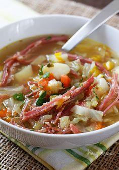 corned beef and cabbage soup. St. Patty's day perfection!