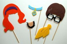Photobooth prop Scooby Doo and friends by KittyDuneCuts on Etsy, $18.00
