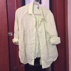 Old navy fluorescent button down Yellow/green, great for spring and summer looks awesome with navy chino pants Old Navy Tops Button Down Shirts