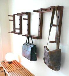 Thru-Block Wooden Coat Rack - 9 piece set
