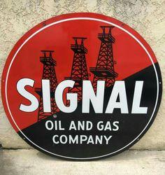 Signal Gas & Oil Porcelain Sign