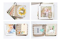 Fall Mini Album with Stephanie | October Edition - includes how-to for a cute peek-a-boo window page.