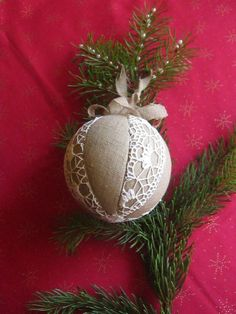 Image result for diy christmas decorations lace