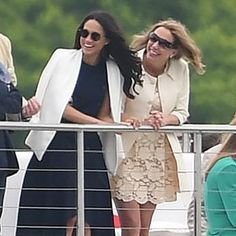 Meghan Markle watches Prince Harry playing polo today