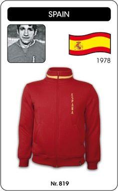 Spanje voetbal jack WK 1978 Spain retro voetbal truitje football soccer vintage sport COPA