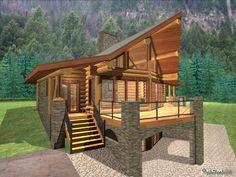 Basement Under Log Cabin   Anderson Custom Homes - log home cabin packages kits colorado builder ...