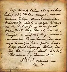 Soekarno's birthday wish Soekarno Quotes, National History, Rare Images, Images And Words, Quotes Indonesia, Historical Quotes, Vintage Stamps, Short Quotes, Founding Fathers