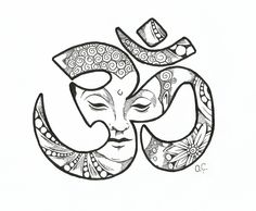 Om with Buddha.