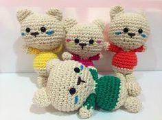 The Carmelita Amigurumi: Cat Pattern Miauuuu Crochet Bear, Crochet Patterns Amigurumi, Crochet Gifts, Crochet Dolls, Free Crochet, Egg Toys, Small Gifts, Crochet Flowers, Free Pattern