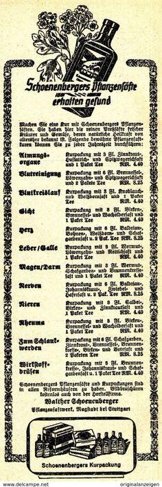 Original-Werbung/ Anzeige 1941 - SCHOENENBERGERS PFLANZENSÄFTE / WALTHER SCHOENENBERGER - MAGSTADT - Ca. 60 X 195 Mm - Werbung