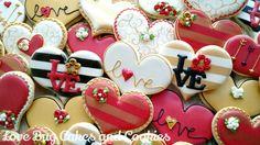 Valentine heart cookies. Love Bug Cookies