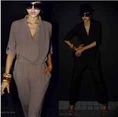 ($25.73)  Free shipping,2013 New Fashion women's elegant high waist long sleeve chiffon harem pants ,Women's jumpsuits/overalls,2 color-in Jumpsuits & Rompers from Apparel & Accessories on Aliexpress.com   /    http://www.aliexpress.com/item/Free-shipping-2013-New-Fashion-women-s-elegant-high-waist-long-sleeve-chiffon-harem-pants-Women/880318525.html
