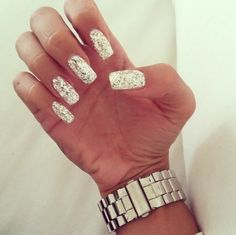 Silver nails❤️