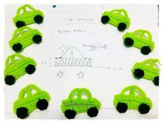 Crochet Free Pattern diagram - Car Applique ::