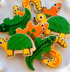 Reptile Sugar Cookie Collection Customizable. $36.00, via Etsy.