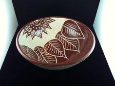 Red-Brown Sgraffito Bowl