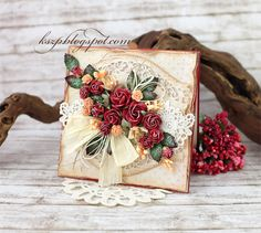 Wild Orchid Crafts: Card with red roses