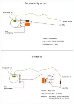 Passive Low Pass Filter Pedal Wiring - This would also be great as an addon for