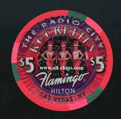 $5 Flamingo Hilton The Radio City Rockettes...most of these were destroyed over 43,300+ so not many left. Hard to find at all!