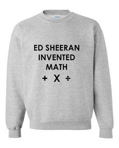 Ed Sheeran Invented Math Teen Crewneck Sweatshirt by CheekyApparel