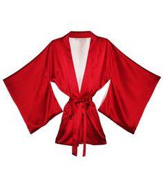 Fleur Du Mal Red 'Haori' Kimono